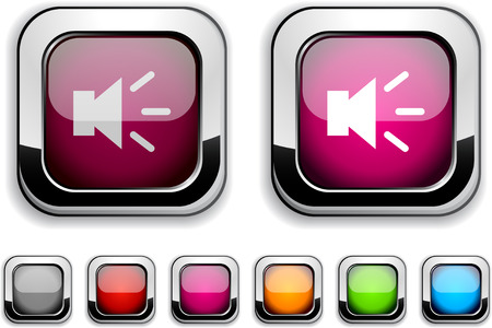 Sound realistic icons. Empty buttons included. Stock Vector - 6580032
