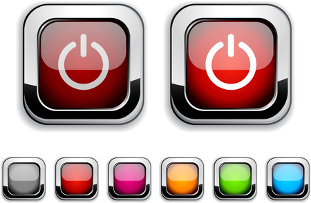 Switch realistic icons. Empty buttons included.  Stock Vector - 6580025