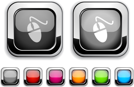 Mouse realistic icons. Empty buttons included.  Stock Vector - 6580028