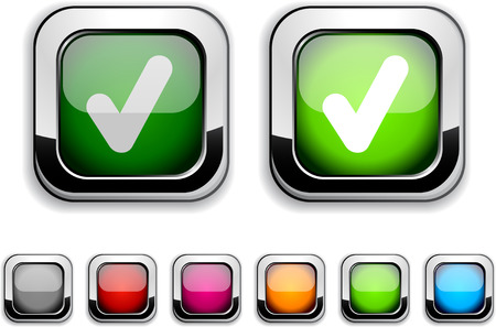 Check realistic icons. Empty buttons included.  Stock Vector - 6580024