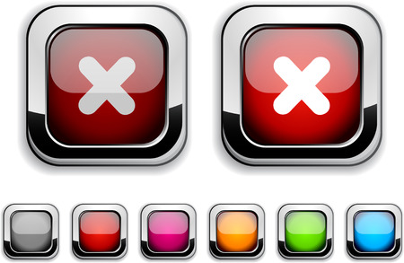 Cross realistic icons. Empty buttons included.  Stock Vector - 6580030