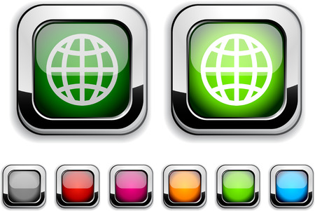 Earth realistic icons. Empty buttons included. Stock Vector - 6584203