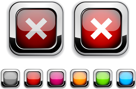 Abort realistic icons. Empty buttons included. Stock Vector - 6584206