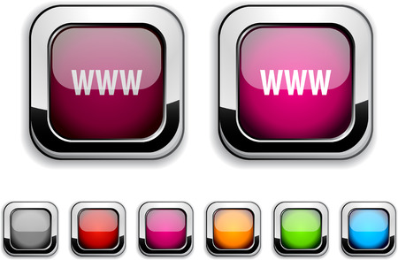 WWW realistic icons. Empty buttons included.  Stock Vector - 6593389