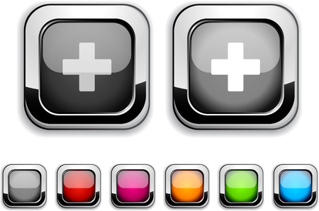 Switzerland realistic icons. Empty buttons included. Stock Vector - 6593379