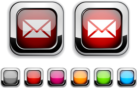 mail realistic icons. Empty buttons included.  Vector