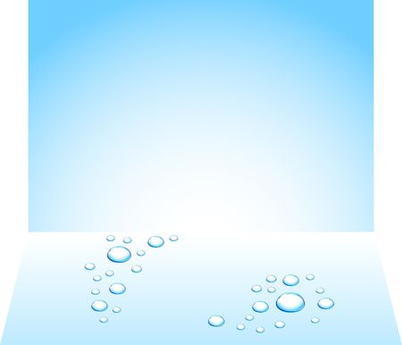 Blue water drops.  Stock Vector - 6593368