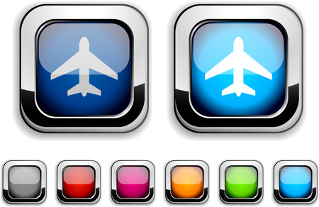 Aircraft realistic icons. Empty buttons included.  Stock Vector - 6602031