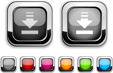 Download realistic icons. Empty buttons included. Stock Vector - 6609431