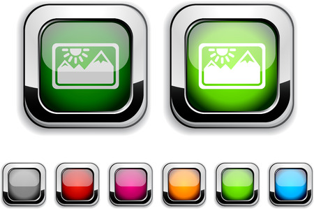 Picture realistic icons. Empty buttons included.  Stock Vector - 6609443