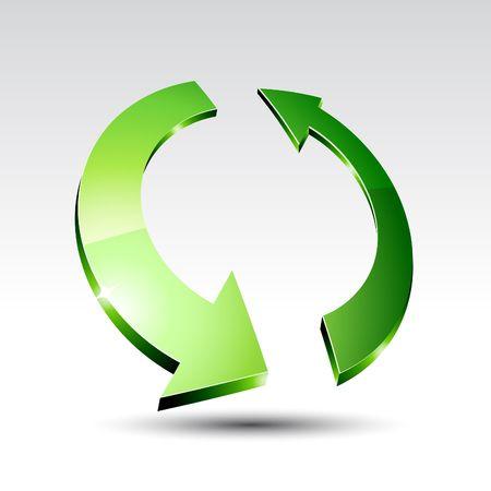 refresh icon: Arrow with shadow. illustration.