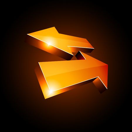 3D return arrows.  illustration.  Vector