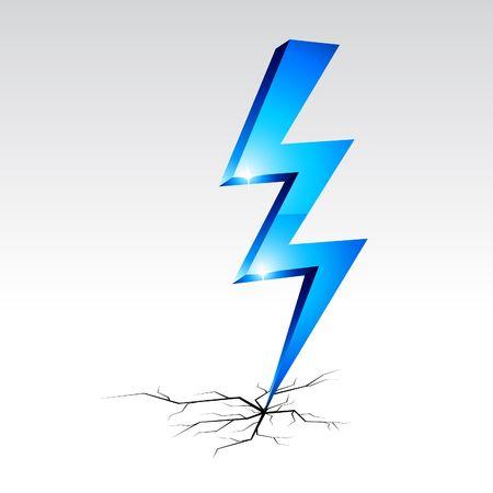 Simbolo di avviso di elettricità. illustrazione.