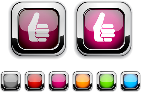 Good realistic icons. Empty buttons included.  Stock Vector - 6621227