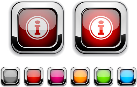 Info realistic icons. Empty buttons included.  Stock Vector - 6621199