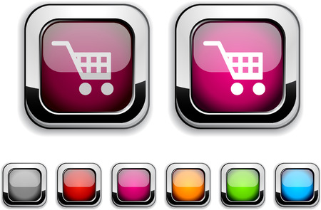 Buy realistic icons. Empty buttons included.  Vector