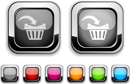 Buy realistic icons. Empty buttons included.  Stock Vector - 6621234