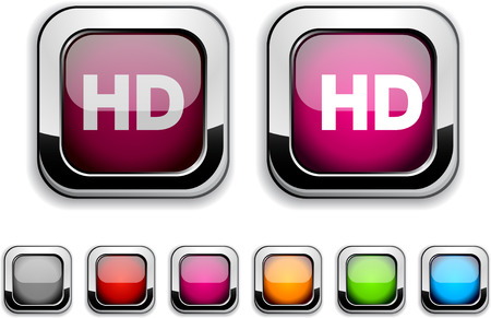 hd: HD realistic icons. Empty buttons included.