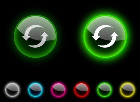 Refresh realistic icons. Empty buttons included. Stock Vector - 6633061
