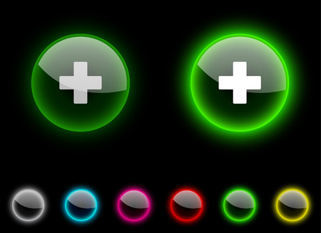 Switzerland realistic icons. Empty buttons included.  Vector