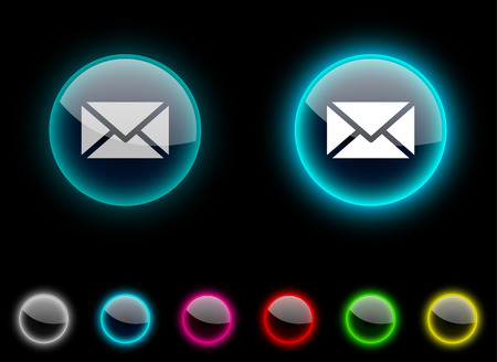 mail realistic icons. Empty buttons included.  Stock Vector - 6648571