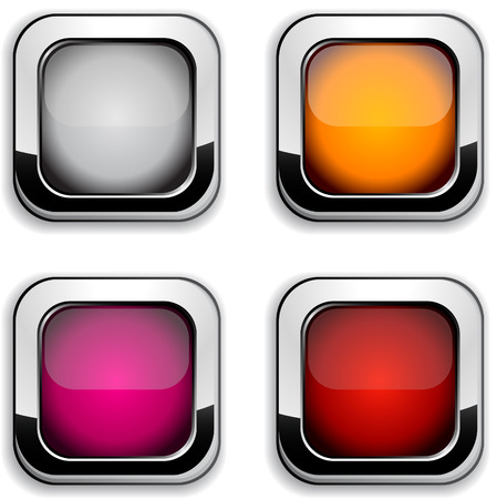 Collection of shiny buttons. Stock Vector - 6648550