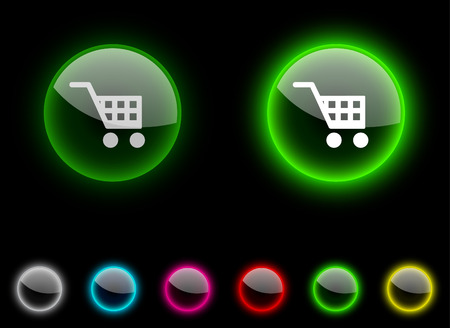 Buy realistic icons. Empty buttons included. Stock Vector - 6658595