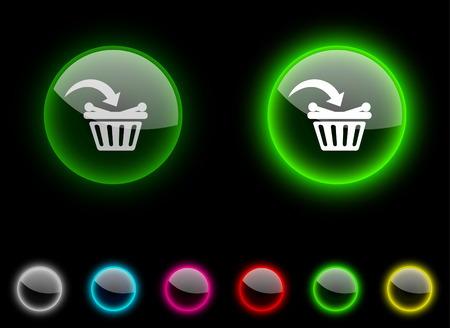 Buy realistic icons. Empty buttons included. Stock Vector - 6665326
