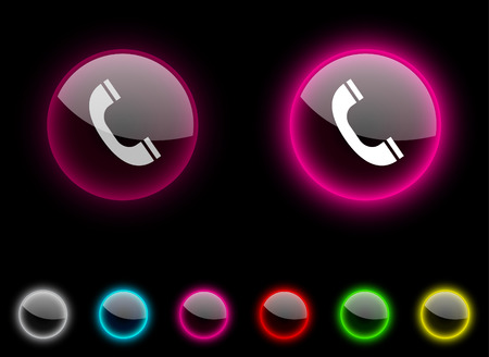 Telephone realistic icons. Empty buttons included. Stock Vector - 6665322