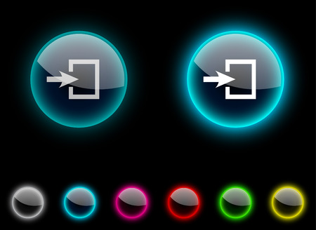 Entrance realistic icons. Empty buttons included. Stock Vector - 6665320
