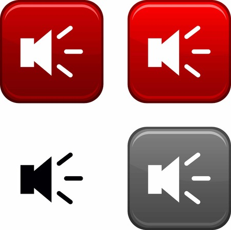 Sound square buttons. Black icon included. Stock Vector - 6684744