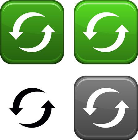 Actualizar los botones cuadrados. Icono negro incluido.