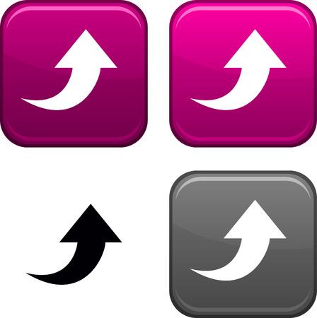 Caricare i pulsanti quadrati. Icona nera incluso.