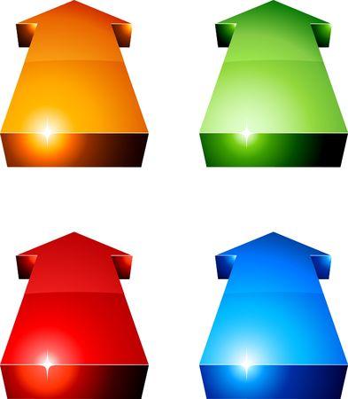 3D vibrant arrows.  illustration. Stock Vector - 6740475