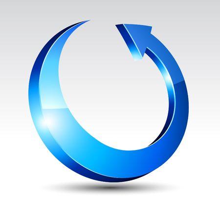 circulaire: Fl�che avec ombre.  illustration.