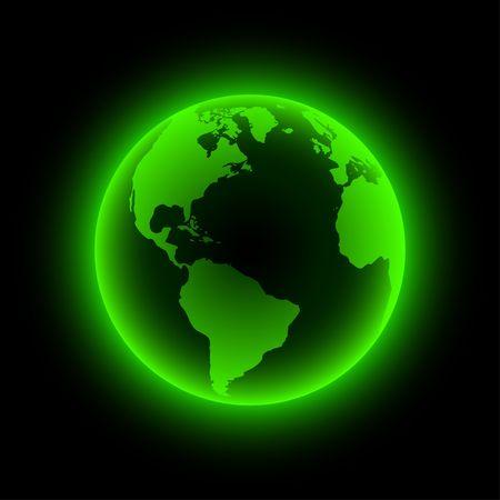 Neon globe icon. illustration. Vector