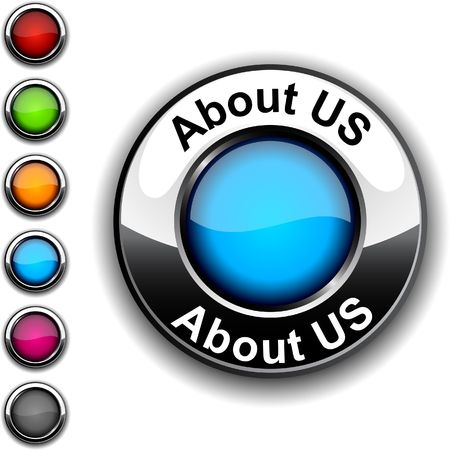 About us  realistic button.   Vector