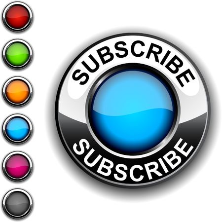 subscribe: Subscribe  realistic button.