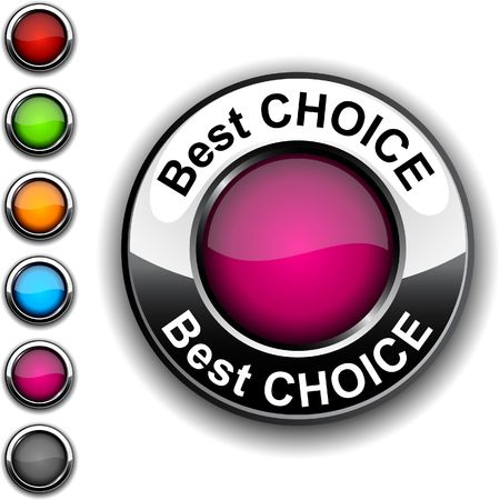 Best choice  realistic button.  Stock Vector - 6755492