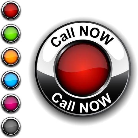 Call Now realistic button.  Stock Vector - 6766321
