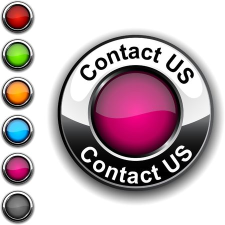 contact us icon: Contact us realistic button.