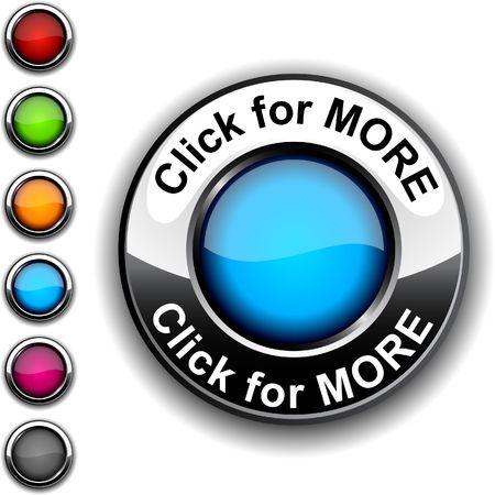 Click for more realistic button. Stock Vector - 6766326