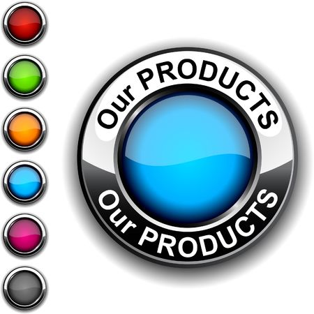 Our products realistic button.  Stock Vector - 6766399