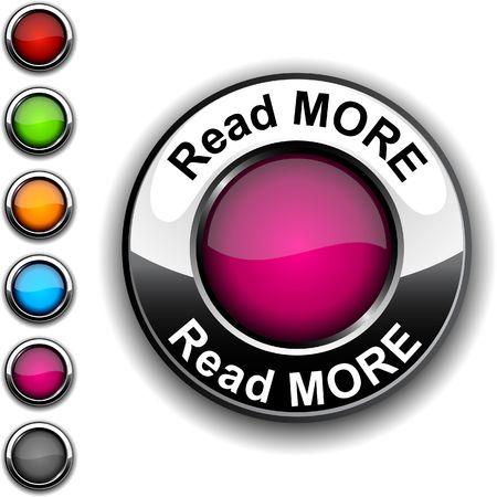 Read more realistic button.  Stock Vector - 6766394
