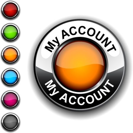 Mi botón realista de la cuenta.  Ilustración de vector