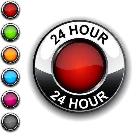 horas: bot�n realista de 24 horas.