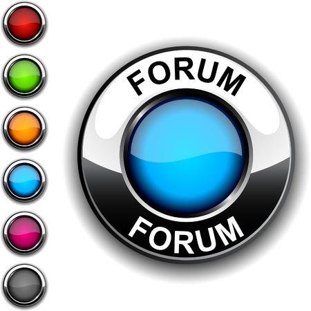 Forum realistic button Stock Vector - 6766388