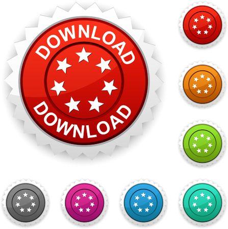 Download  award button.  Vector
