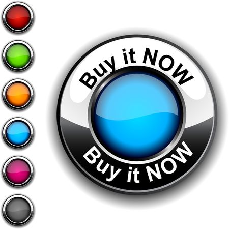 Buy it now realistic button.  Vector