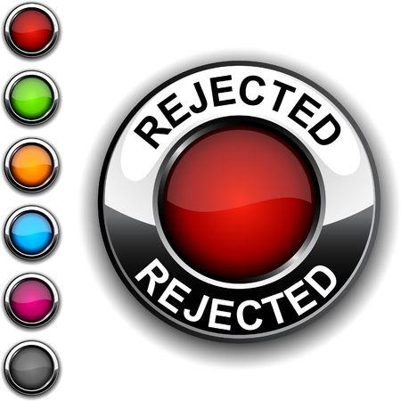 Rejected realistic button.     Stock Vector - 6766438